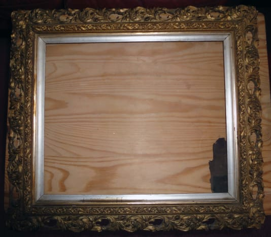 Picture Frame ready for cleaning