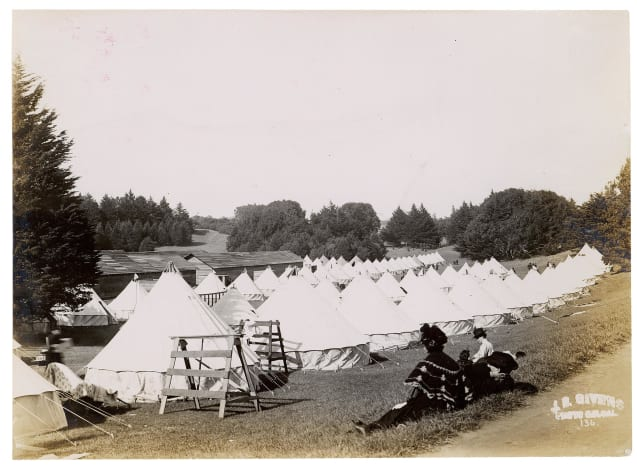 Camp in Golden Gate Park Under Military Control After the 1906 San Francisco Earthquake
