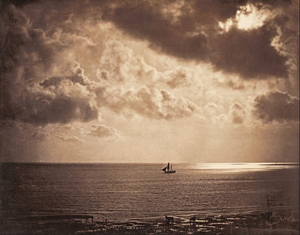 :Gustave Le Gray - Brig upon the Water - 1856. Albumen print - Height: 320.8 mm (12.63 in). Width: 406.4 mm (16 in). This is a favorite.