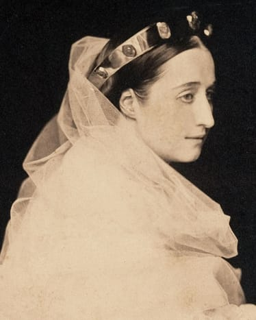 Empress Eugénie of France (1826-1920).  1856, by Gustave Le Gray. A very beautiful portrait of Empress Eugenie.