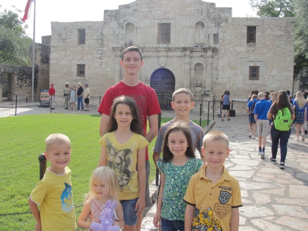 We made a quick stop by the Alamo so my kids could see how small it is.