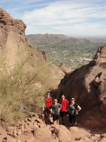 We woke up early & headed straight to Camelback Mountain. It's a tough trail but worth it if you enjoy hiking. This hike was one of the favorite activities of our entire trip!