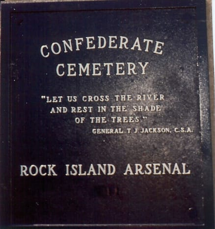 Confederate cemetery on Rock Island