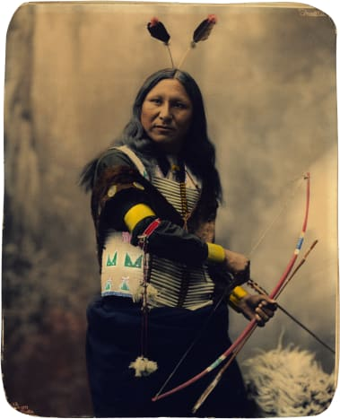 """Oglala Sioux man known as """"Shout At"""" in 1899."""