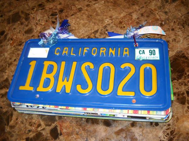 License plate scrapbook