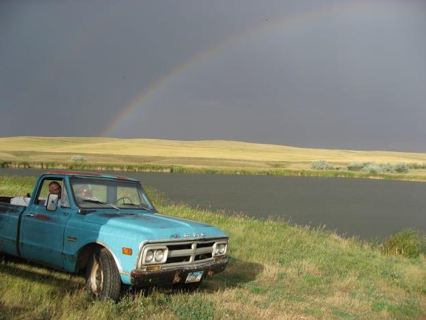 Rainbow on the North Dakota Prarie by Iver Arnegard