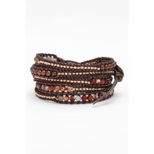 Chan Luu Purple Fire Agate Mix Wrap Bracelet