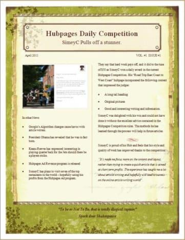 A sample newsletter.