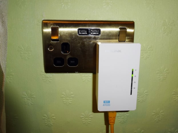 New double power socket with two USB chargers