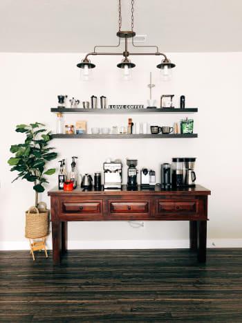 My coffee bar at home.