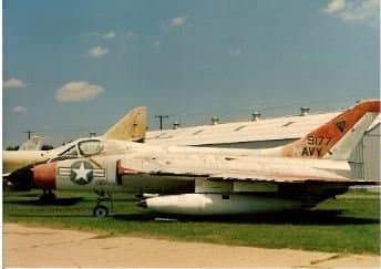 An F-6 Skyray at Quantico Marine Base, circa 1990.  The initial designation was F4D, which can confuse some search engines and return links related the the F-4D Phantom II.