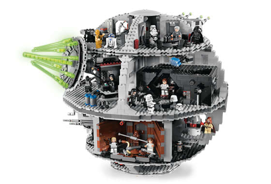 Death Star (10188) Released 2008. 3,686 pieces!