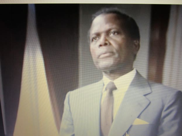 """Academy award winner Sydney Poitier, plays the role of attorney Thurgood Marshall, in the movie """"Separate But Equal."""""""
