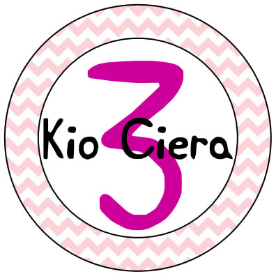 Chevron Cupcake Topper (Name and Number)