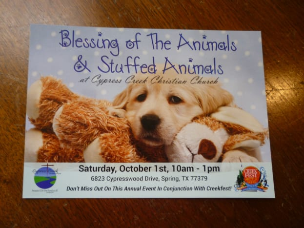 Blessing of the Animals at Creekfest