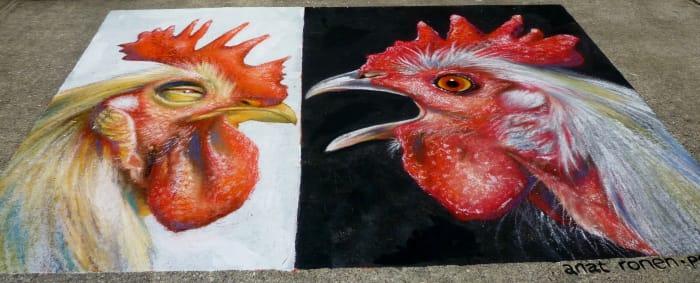 Creekfest chalk art