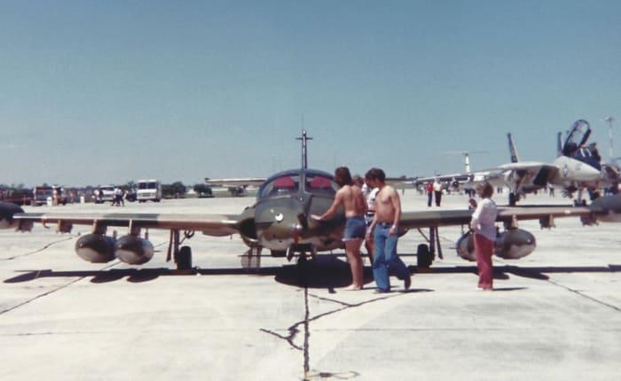An A-37 at Randolph AFB, May 1977.