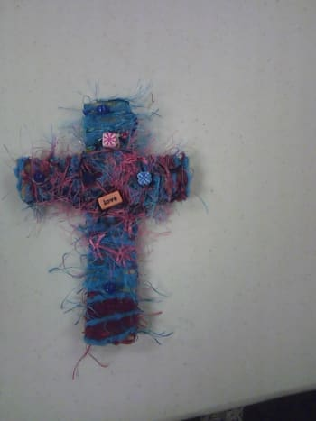 Fiber Cross: this one is on a cardboard cross.