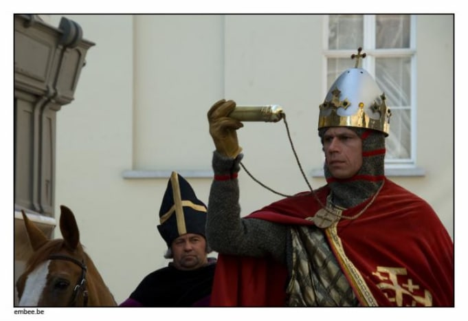 Count Thierry of Alsace with the Holy Blood in the Procession, 2009