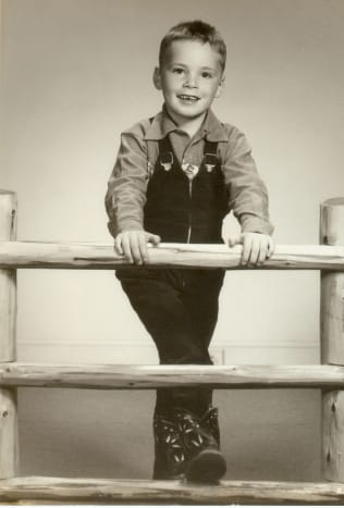 Childhood photo of my brother Jim