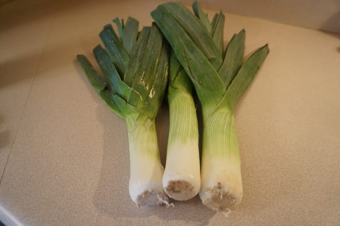 There are many health benefits in eating a diet which includes leeks and fennel bulb.