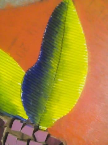 Cardboard Leaves Painted