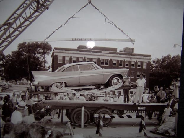 Miss Belvedere in the 1957 during the ceremony that would entomb her.