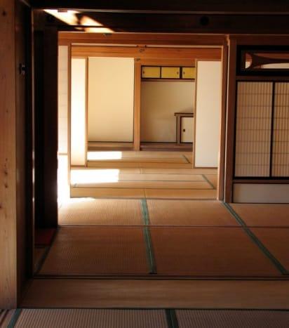 Sparsely furnished, Tamozawa villa.