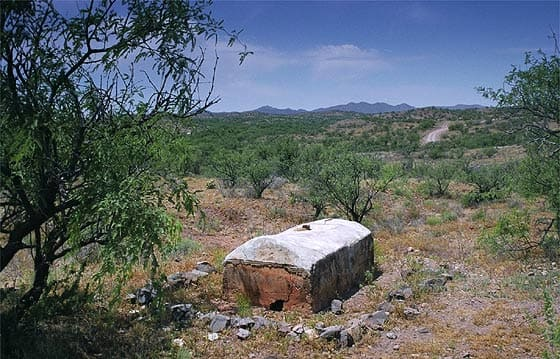 John Poston's grave (monument) at Cerro Colorado, Arizona. 2008