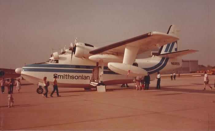 An Hu-16 Albatross in Smithsonian markings, Andrews AFB, May 1983.