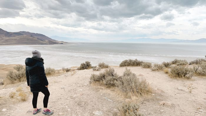 A mesmerizing view of the Great Salt Lake.
