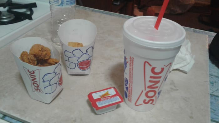 Sonic's meal comes with tater tots if you prefer