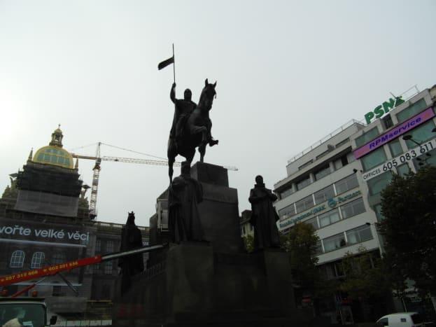 The Wenceslas monument, Prague.