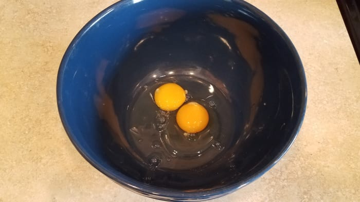 Start with your two eggs.