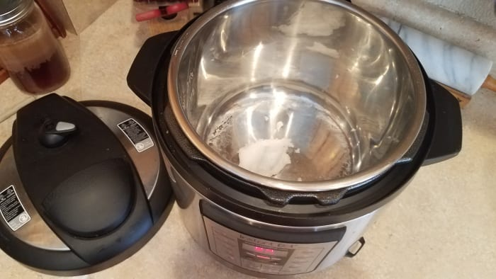 Start by melting your coconut oil in your Instant Pot on the Saute function.