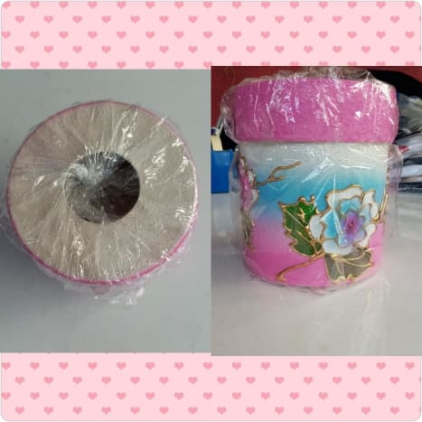 Round tissue box