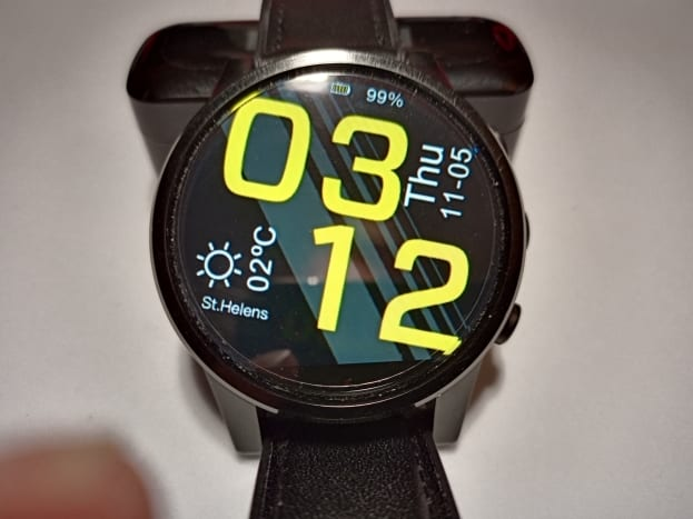 One of the selection of watch faces available