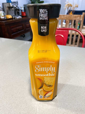 I used a ready-made pineapple and mango smoothie as one of my ingredients. It gives a great taste and a great addition to the smoothie.