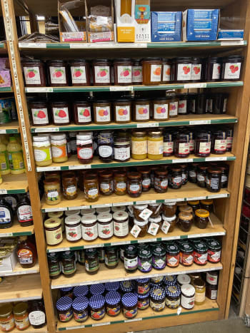 Assorted jams and spreads