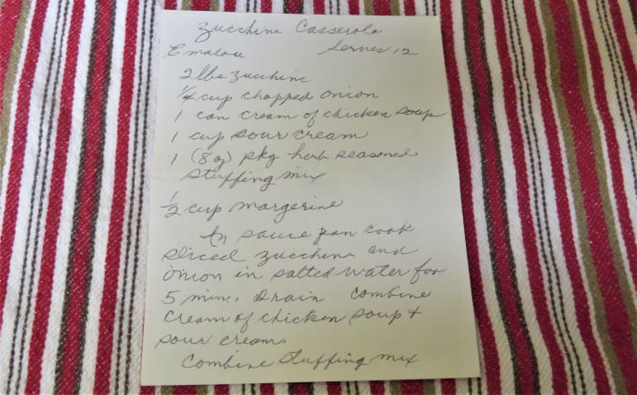 Handwritten recipe from my mother-in-law