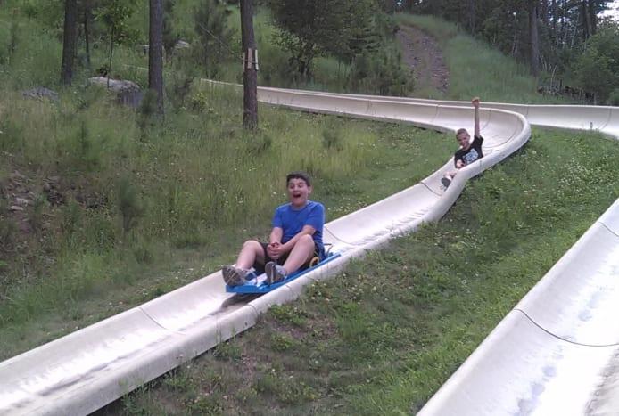 Rushmore Tramway Adventures Alpine Slide!