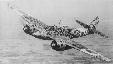 Kawasaki Ki-45 in flight.