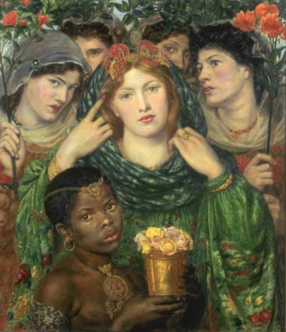 Fanny Eaton placed in the background in The Bride by Dante Gabriel Rossetti   1865