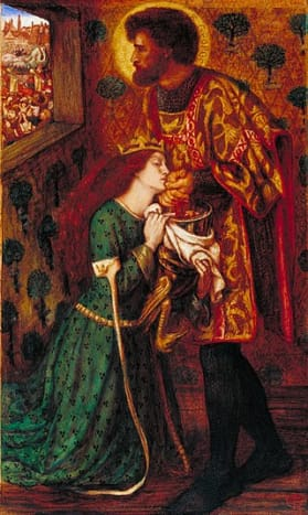St George and Princess Sabra by Dante Gabriel Rossetti 1862