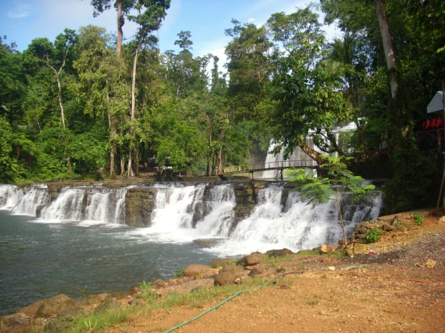 The entrance:  The  first tier of Tinuy-an Falls, Surigao del Sur, Philippines