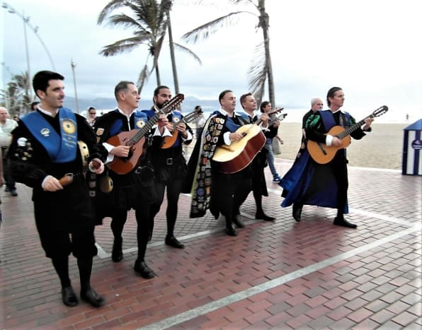 Musicians in traditional costume, Playa de las Canteras.