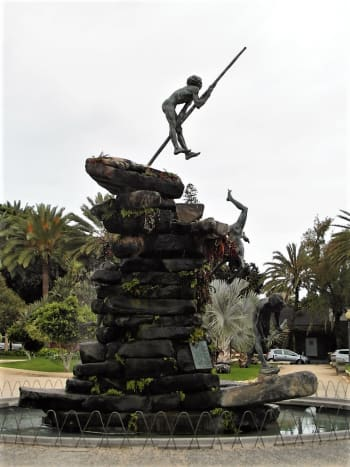 The Guanche sculpture, Parque Doramas, Las Palmas.
