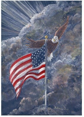 Soaring over Old Glory ... 2007 Print