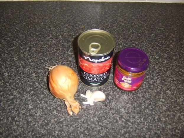Basic balti curry sauce ingredients