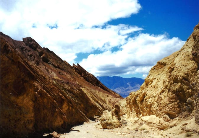 Walking into Golden Canyon